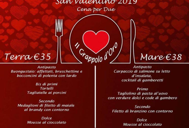 menu san valentino 2019