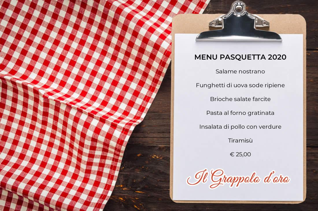 menu pasquetta grappolo d'oro
