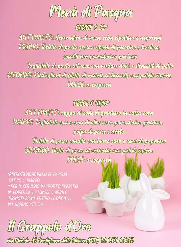 menu di Pasqua 2021